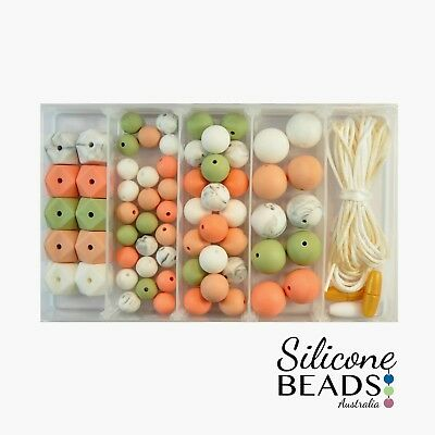 Muted Peach Silicone Bead Starter Kit