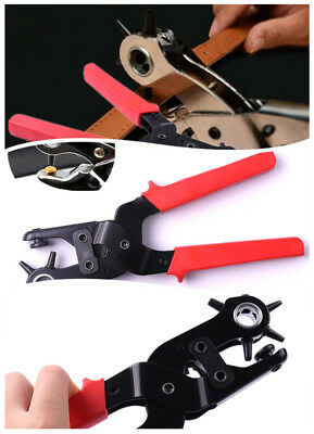 Revolving Leather Belt Eyelet Oylet Hole Punch Puncher Plier Craft Hand Tool