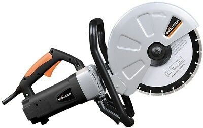 12 In Corded Portable Concrete Saw Electric Motor Adjustable Spindle Lock NEW