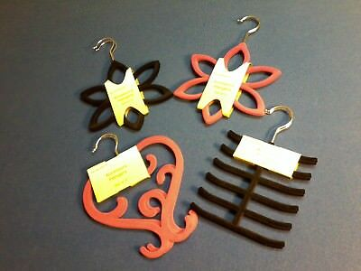 Accessory hangers, available in 4 unique designs, in red, black or pink,set of 2
