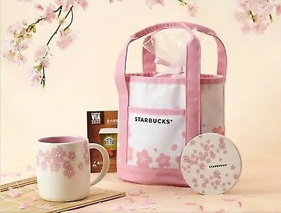 [-Starbucks-] Sakura Pink  Lunch Bag - JAPAN LIMITED EDITION - FREE SHIPPING