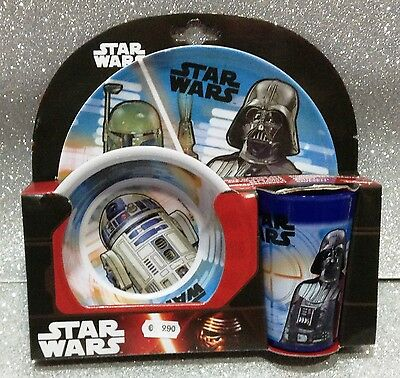 Star Wars Set Tavola Melanina Piatto Bicchiere Ciotola Plastic Dinner Set Child