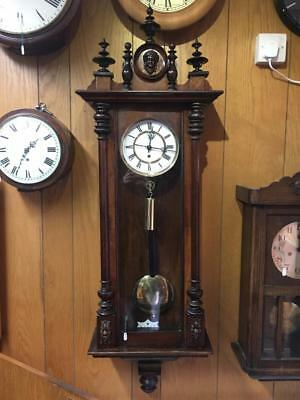 C. 1890, 8 Day, Vienna Regulator Wall Clock In Walnut Case
