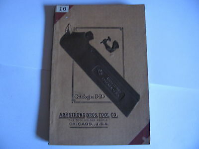 ARMSTRONG BROS Tool co Catalogue B-20 1920`s