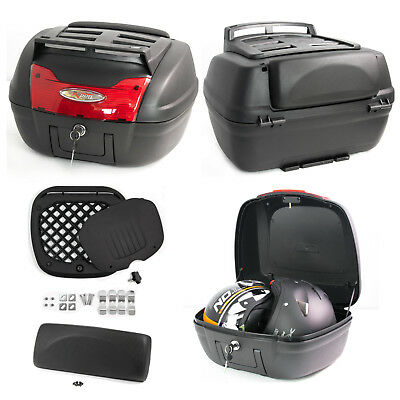Top Case Box 40 LT Universal Touring Motorcycle Rack Scooter Luggage Quad