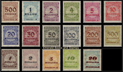 EBS Germany 1923 Inflation Numeral in Rosette (I) Michel No. 313A//329A MNH**
