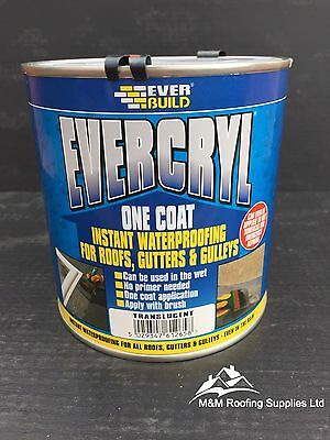Everbuild Evercryl One Coat Fibre Based Instant Roof Repair Compound 5Kg