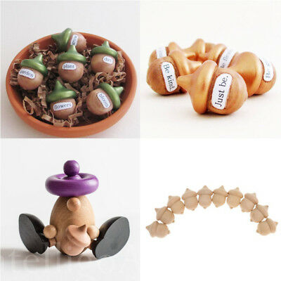 New 10pcs Unfinished Wooden Acorns Peg DIY Wedding Party Accessory Gift Ornament