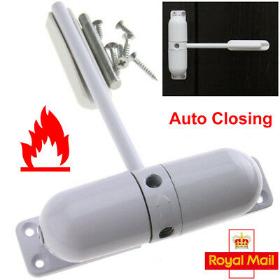 Surface Mounted DOOR CLOSER Fire Rated Spring Loaded Adjustable Auto Closing