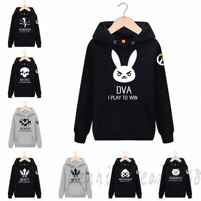 Overwatch DVA Mccree Genji Reaper Sweatshirt OW Pullover Coat Hoodie Tops Sweat