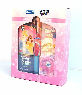 Braun Oral-B Kids Child Power Toothbrush | Rechargeable  3 Heads Included |Girl