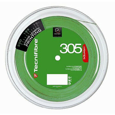 Tecnifibre 305 Squash String 200m Reel - Green - 1.10mm - Free UK P&P