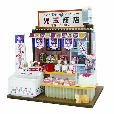 """Doll House Miniature Model Kit Figure Handcraft Japanese """"Old-style Grocery"""" F/S"""