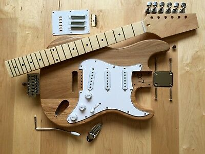 DIY S style guitar kit, full parts package with FREE Ash body and Maple Neck