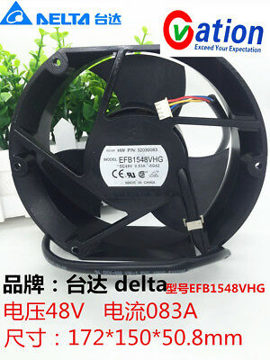 For DELTA EFB1548VHG Circular Inverter cooling fan DC48V 23.52W 172*150*50.8mm