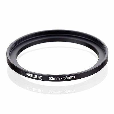 52mm to 58mm 52-58 52-58mm52mm-58mm Stepping Step Up Filter Ring Adapter b