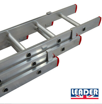 LEADER DIY Double & Triple Domestic Aluminium Extension Ladders UK Manufactured