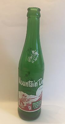 Mountain Dew Hillbilly Green Bottle, 10 oz, 1964