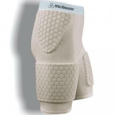 McDavid HEXPAD THUDD SHORT WITH HEXPAD THIGH PADS - BEIGE in Beige