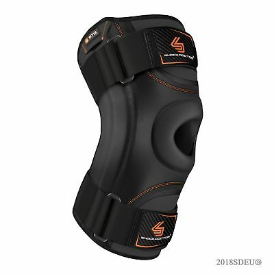 SHOCK DOCTOR Knee Stabilizer with Flexible Support Stays in Black