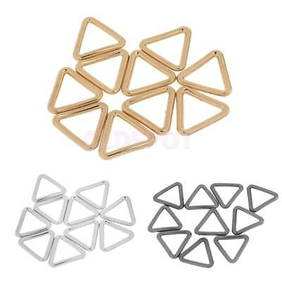 10pcs Metal Closed Triangle Rings Loop Buckle for Luggage Handbags Strap 19mm
