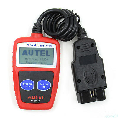 MS309 OBD2 Scanner Diagnostic Tool Scan Car Code Reader Data Tester OBDII UK