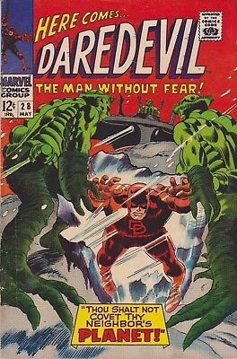 Daredevil The Man Without Fear! #28 1967 Silver Age Marvel Comics Group