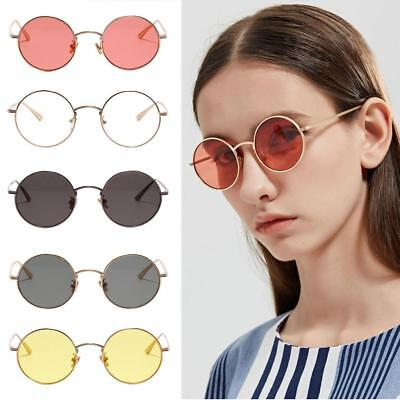 a9f59648a3c Womens Mens Mirrored Metal Frame Glasses Round Sunglasses New