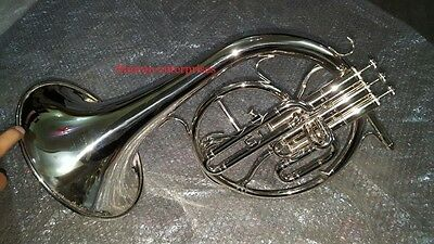 Horn Mellophone Replica Of French Horn Brass Polish With Extra Slide Mouthpiece