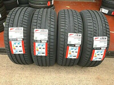 205 55 16 RIKEN MICHELIN MADE TYRES 205/55 ZR16 91W ROAD PERFORMANCE x1 x2 x4