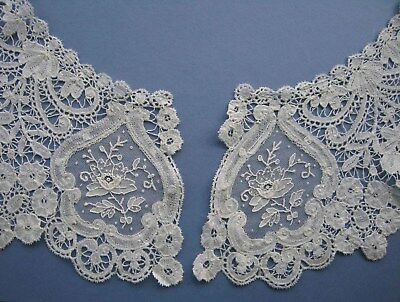 Antique Point de Gaze Brussels Duchesse Lace Collar - Bertha