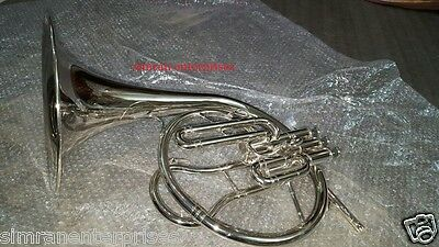 Horn Mellophone Replica Of French Horn Chrome Polish With Extra Slide Mouthpiece