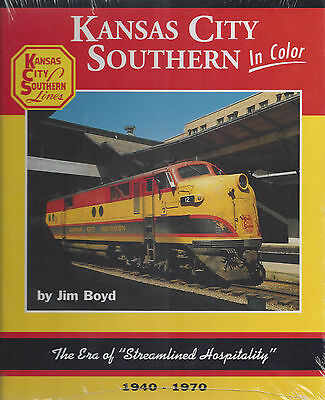 """KANSAS CITY SOUTHERN in Color: Era of """"Streamlined Hospitality"""", 1940-1970 (NEW)"""
