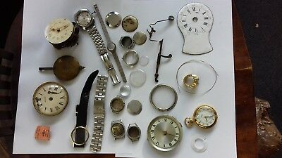 Mixed Collection of Clock and Watch Parts for Spares or Repairs
