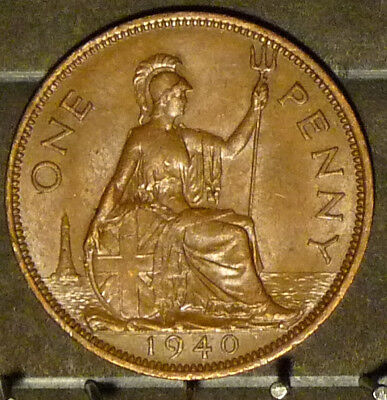 1940 Great Britain Large Penny  Coin     F22