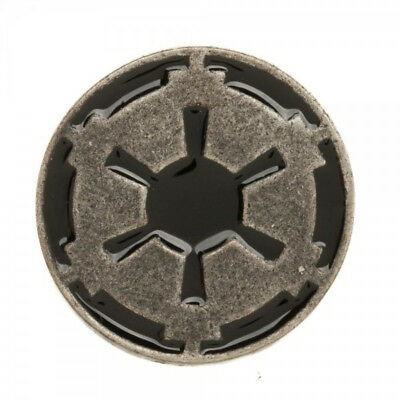 Star Wars Movies Imperial Empire Black and Grey Cog Logo Metal Enamel Pin UNUSED