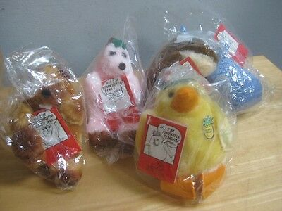 5 Vintage 1985 Dairy Queen Plush Toys New Sealed Blizzard