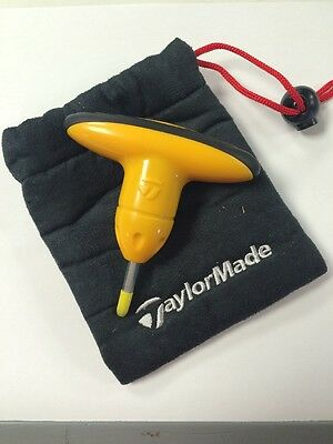 Brand New Yellow Taylormade Adjustment Wrench Tool with drawstring case