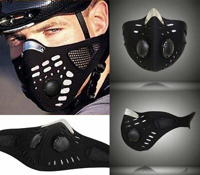 Anti Dust Motorcycle Bicycle Cycling Bike Half Face Mask Filter Neoprene