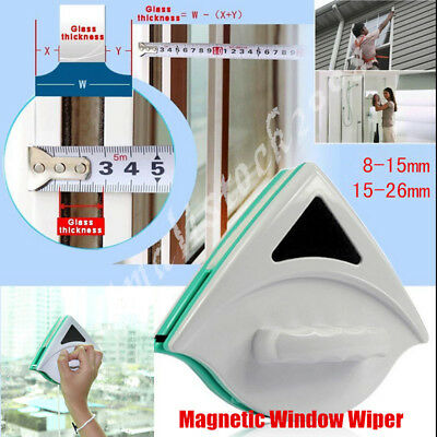 Glider Double Side Magnetic Window Glass Cleaner Glazing Wiper Cleaning Tool UK