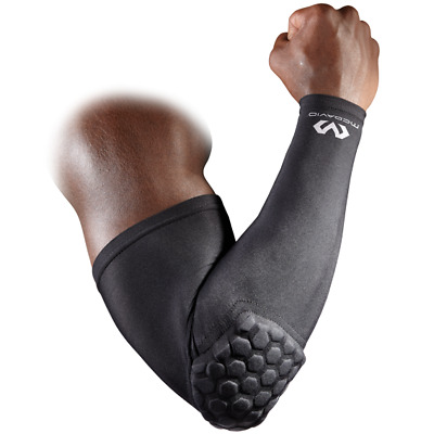 MCDAVID HEX POWER SHOOTER ARM SLEEVE WITH ELBOW PAD (single) in Black, White