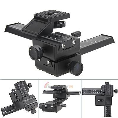 Pro 4-Way Macro Sliding Focus Focusing Rail Slider DSLR Camera Tripod Bracket