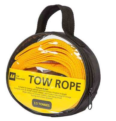 Aa 3.5 Tonne Tow Rope Fits Any Vehicle Weight Permitted 4M In Length Strong Rope