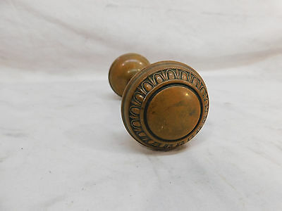 Antique Craftsman Style Egg & Dart Door Knob - 1910 Brass Architectural Salvage
