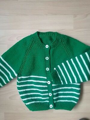 hand knitted girls cardigan 1/2yrs
