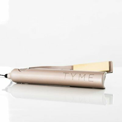 TYME Iron 2 in 1 Hair Straightening Curling Gold Plated Titanium