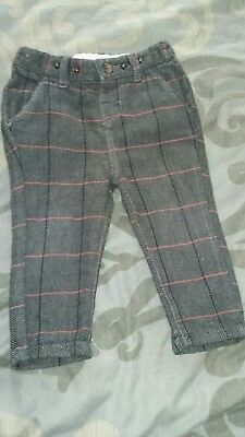 mamas and papas boys checked smart trousers