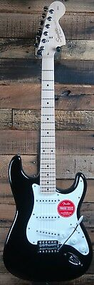 Squier by Fender Affinity Stratocaster Electric Guitar - Black, Maple Neck NEW