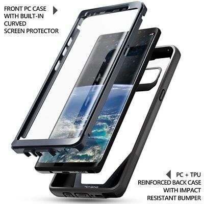 Poetic Guardian Built-in-Screen Protector Case for Samsung Galaxy Note 8 Black