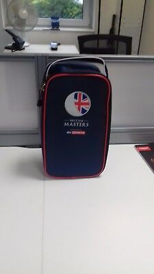 British Masters Golf Shoe Bag - Blue with Red Trim